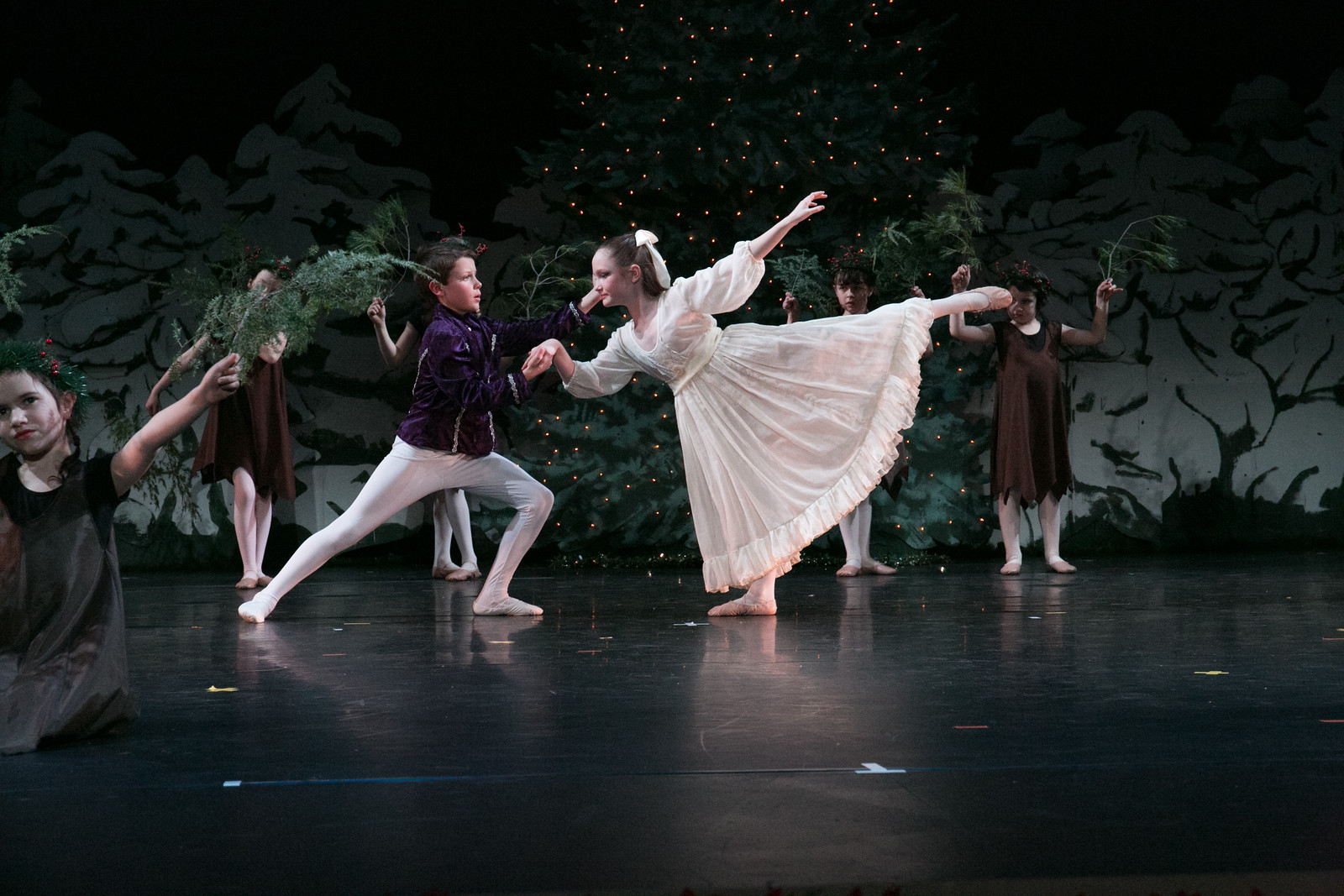 Marie and Nutcracker Prince in Forest